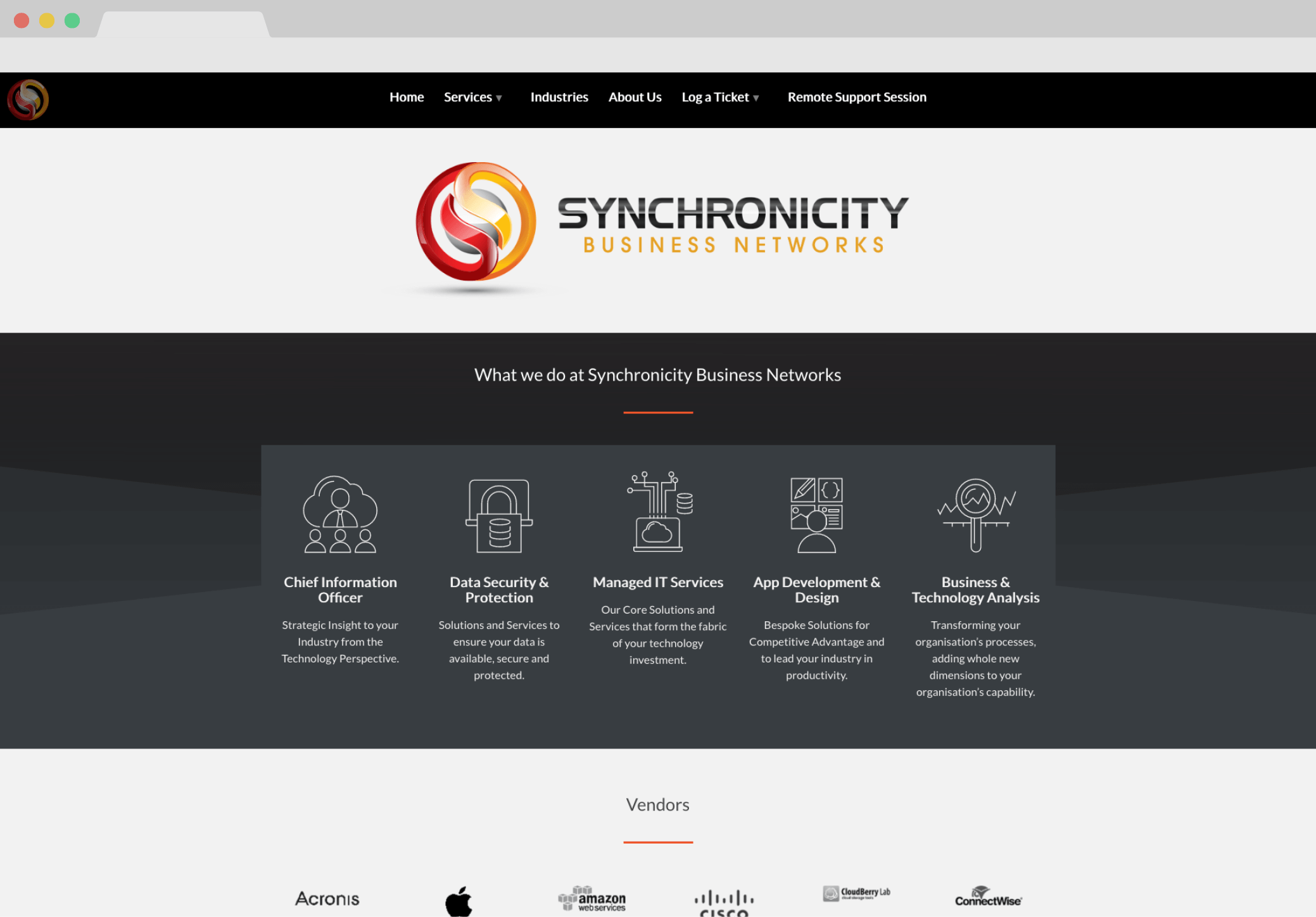 Synchronicity Business Networks Screengrab