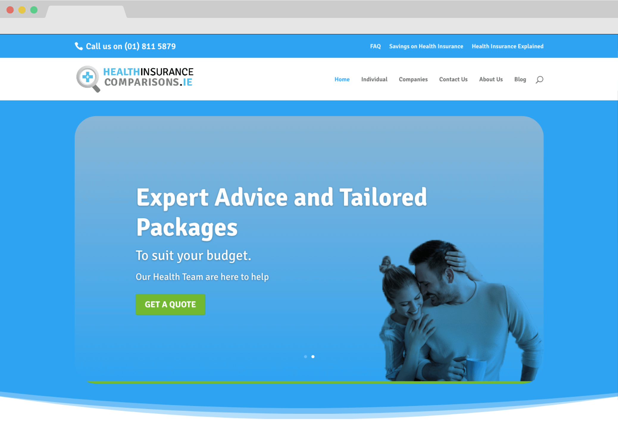 Health Insurance Compasion Website Screengrab